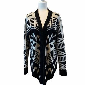 Forever 21 Cardigan Sweater Poncho Aztec Tribal S